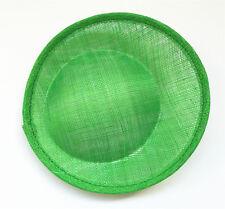 "7.9"" Round Saucer Sinamay Teardrop Hat Fascinator Millinery Base Craft B063"
