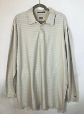 NWOT Nike Tiger Woods Collection Mens Shirt Dry Fit 2XL Beige Long Sleeve