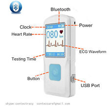 Macchina ECG ECG CONTEC portatile con USB, monitor Heart Beat, Bluetooth,LCD,CE