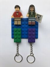 Custom Made Upcycled Big Bang Theory Sheldon Lego Key Holder 2 X Lego Keychain