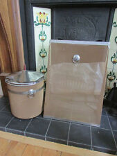 1950s metal mesh & stainless steel coal bucket and fire guard set, project
