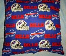 "16""x16"" Handmade Pillow Made w/Buffalo Bill Cotton Print w/Red Cotton Back"