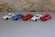 Lot de 5 mini Voitures HO - TYCO HK Plastique - Vintage - Neuves