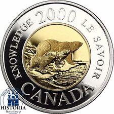 Kanada 2 Dollar Gold 2000 PP Polarbär im Etui mit Zertifikat 22carat