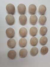 "100 -  1½"" - Birch Wood Cabinet Knob Pulls / Drawer Knobs"