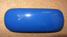 Blue strong glasses case, hard spectacle case, gloss finish, present, gift (E1)