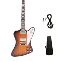 Firebird Style Electric Guitar White Pickguard Chrome Hardware