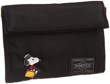 New! JOE PORTER × YOSHIDA BAG SNOOPY Wallet Black Japan F/S