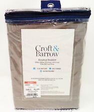 CROFT & BARROW Queen Gray Boxpleat Bedskirt (NEW)