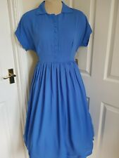 LINDY BOP  NWT Tally Dress - Cornflower Blue - UK 14