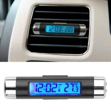 Digital LED 2in1 Car Clock Thermometer Temperature LCD Backlight Without Battery