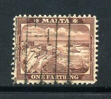 Malta 1899 1/4 D wmk corona a la izquierda de CA & cancelado SG 31y USADO CV £ 32...