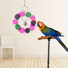 1x Bunt Vogelspielzeug Papageienspielzeug Papagei Ball Glocke Schaukel Spielzeug
