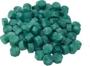 Jade Green Pearl Sealing Wax Beads for Envelopes & Invitations, approx 250 beads