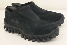 Salomon Black Suede Leather Mocs w/Ortholite Insoles US Men's 7.5 EU 39 1/3