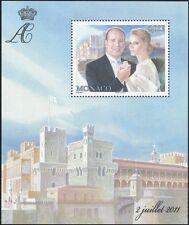 MONACO 2011 Principe Alberto II/Miss Wittstock/Matrimonio Reale/ROYALTY 1 V M/S mc1100