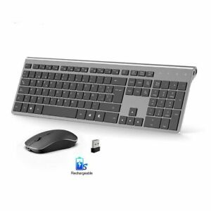 Spanish Layout Wireless Keyboard Mouse Set USB Connection Rechargeable Battery