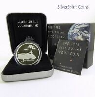 1992 INTERNATIONAL YEAR OF SPACE COIN FAIR 1oz SILVER Proof Coin