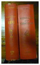 DIZIONARIO DELLE MERAVIGLIE / DIZIONARIO DELLE ARTI / 2 VOLUMI / 1950