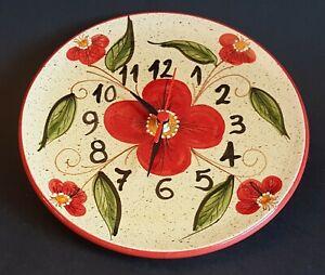 Spanish Ceramic Round Clock 22cm diameter