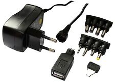 Alimentation adaptateur secteur 220V-3/4,5/5/6/7,5/9/12V 0.6A 600mA jack USB
