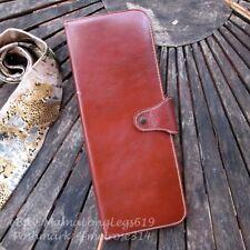 Antique 1950s MCM Gentlemans Elyte Leather Necktie Travel Organizer Tie Storage