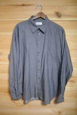 YSL Yves Saint Laurent Shirt Grey Check Long Sleeve XL