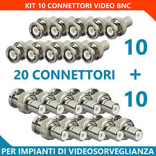 KIT 20 Connettori BNC Maschio / RCA Femmina e BNC Maschio / RCA Maschio