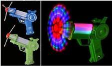 2 LIGHTUP SPINNING BIG WIND MILL FLASHING PISTOL TOY GUN boy toys makes noise
