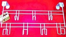 7 Hooks Clothes Coat Hat Towel Bag Over Door Bathroom Hanger Hanging Rack Holder