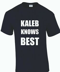 'Kaleb Knows Best' T-Shirt Inspired by Clarksons Farm (Tractors, Agriculture)