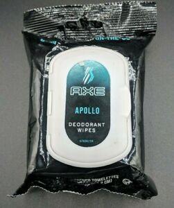 Axe  Deodorant Wipes Apollo Scent On the Go 25 Count Pre-Moistened Wipes