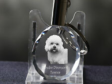 Dandie Dinmont Terrier, Dog Crystal Round Keyring, Quality, Crystal Animals Ca