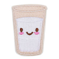 Smiling Milk Patch for Clothes Iron On Sewing Embroidered Applique Clothes  TB