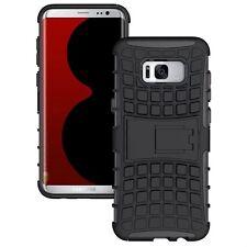 Hybrid Case 2teilig Outdoor Schwarz Tasche Hülle für Samsung Galaxy S8 Plus G955