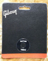 GIBSON Black White Letters Toggle Switch Washer Ring Les Paul Guitar Genuine New