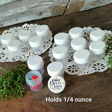 100 Vial WHITE Cap Tiny Pot JAR Bottle 1/4oz container Powder #2803 USA cosmetic