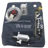 Windscreen Universal Washer Bottle Bag Kit With 12V Pump 151286776374 Black PT