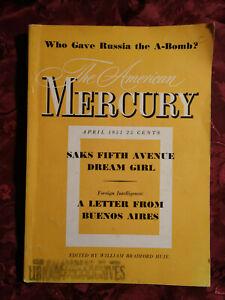 AMERICAN MERCURY April 1951 ROBERT LOWRY JAMES BARKER +