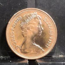 CIRCULATED 1979 1 NEW PENNY UK COIN (112017).....FREE SHIPPING!!!!!