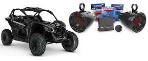 Max 100w Tower LED Speakers+Amp+Bluetooth Controller for Can-Am MAVERICK X3/X3