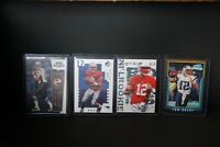 Tom Brady Rookie cards. There is 4 cards in this lot. READ the Description below