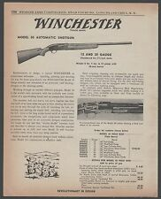 1956 WINCHESTER Model 50 Automatic Shotgun AD w/cross-section view of action