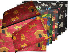 Dog Pet Bed Cushion Cover Removable Zipped Cover Mix Colours Polycotton 2 Sizes