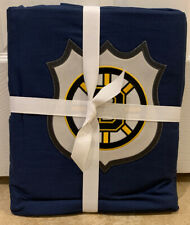 NEW Pottery Barn Teen NHL Patch TWIN Duvet BOSTON BRUINS
