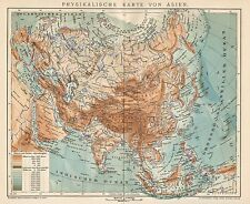 B6212 Africa physical - Carta geografica antica del 1901 - Old map