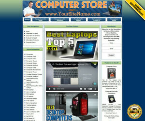 LAPTOP COMPUTERS FULLY AUTOMATED AFFILIATE STORE BUSINESS WEBSITE FOR SALE