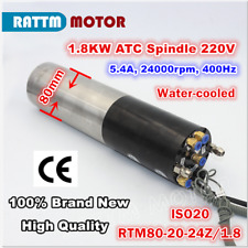 1.8KW ISO20 Automatic Tool Changer Water Cooled ATC Spindle Motor 24000rpm CNC