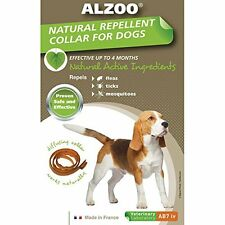 ALZOO FLEA & TICK COLLAR DOG MEDIUM NATURAL ALTERNATIVE TO CHEMICAL FREESHIP USA