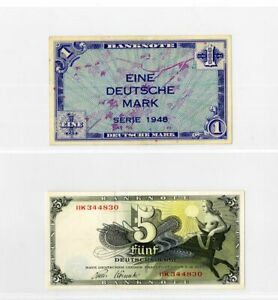 Germany Paper Money 1940s Bank Notes